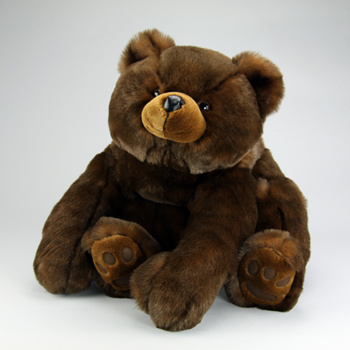 "Papa Minky is 54"" tall, and an adorable teddy bear! Weight: 33 lbs! He has a soft, shiny and cuddly plush coat!"