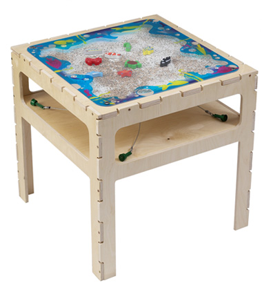 True kids learning games and kids will be  entertained as they move and control the  wooden fish, crabs, starfish, seahorse, whale, and turtle with magnets attached to the bottom of the table.
