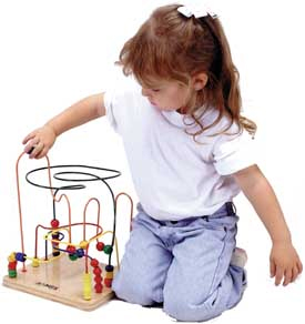 """It is a """"first building block"""" for creative, intellectual development as it stimulates basic learning skills such as visual tracking, eye-hand coordination, and shape and color recognition."""