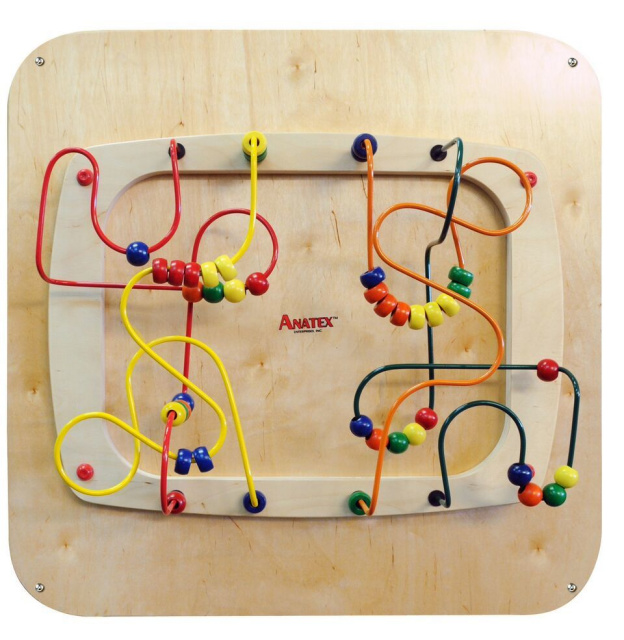 This panel is terrific for visual tracking, fine and gross motor skills, and eye-hand coordination and on top giving hours of play. Educational, decorative and fun! Built without lose pieces.