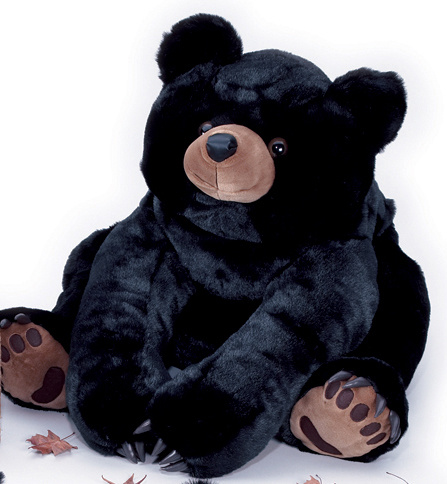 "Giant teddy bears ar fun for kids!This black giant teddy bear is big! Jumbo Java is enormous, he stands an unbelievable 90"" = 7 1/2 feet tall!"