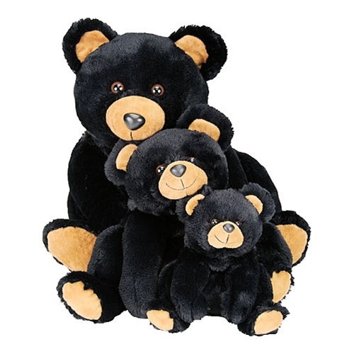 "The Smoky Family consists of four(4) lovely stuffed teddy bears, and they are charming and lovable! The sizes are: Mr. Smoky 27"" -  Mama Smoky 18"" -  Baby Smoky 12.5"" - Junior Smoky 9"""