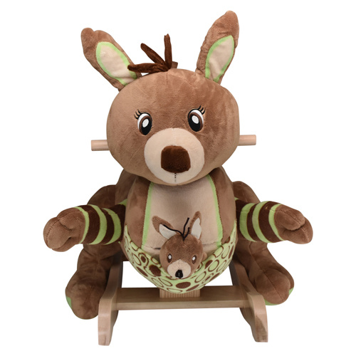 I am Roo Roo  and I am a Kangaroo from the Outback of Australia and he carries a little baby Roo in his pouch!